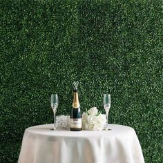 Artificial Boxwood Hedge Small Leaves Foliage Palm Leaves Honeysuckles Shrubs and Clovers Garden Wall Mat - ChairCoverFactory Artificial Plant Wall, Artificial Boxwood, Artificial Turf, Artificial Hedges, Artificial Garland, Artificial Flowers, Wall Backdrops, Backdrop Decorations, Wedding Backdrops