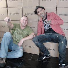"""....... just us """" DYSTROY """"  Follow us on www.facebook.com/dystroy.de"""
