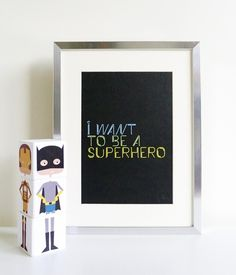 Handmade Superhero Mix n Match Wood Blocks by Babee & Me