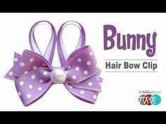 ▶ How to Make a Bunny Hair Bow Clip - TheRibbonRetreat.com - YouTube