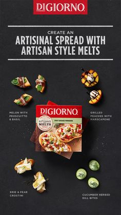 Create an artisanal spread with Spicy Sausage Pomodoro Artisan Style Melts! Any of these options will go perfect with our piping hot focaccia bread, straight from your oven.