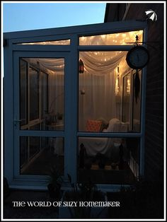 Moroccan style conservatory makeover - The World of Suzy Homemaker | www.suzy-homemaker.co.uk - @SuzyHomemakerUK Conservatory Decor, Patio Curtains, Moroccan Style, Suzy, Sunroom, Homemaking, Home Decor, Sunrooms, Home Economics