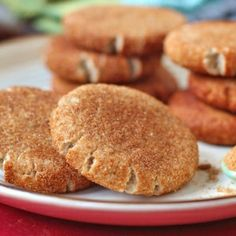Guilt-Free Snickerdoodles Cookies [refined sugar free, gluten free, vegan] You can't go wrong with cinnamon and sugar!