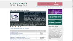 Sewing Mantra - Website Development