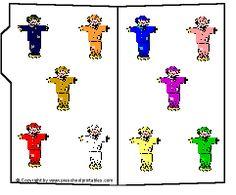 Preschool Printables : File Folder: Scarecrow