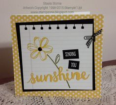 Stampin' & Scrappin' with Stasia   Stampin' Up! 2016-17 Stampin' Up! Catalog, Sunshine Saying, Sunshine Wishes
