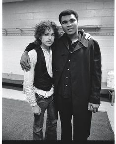 Bob Dylan and Muhammad Ali in 1975 at Madison Square Garden