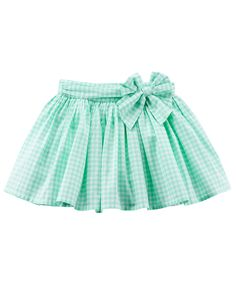 Gingham poplin skirt Spring style is easy with this girls' Carter's gingham skirt. In light green/white. Girl Doll Clothes, Doll Clothes Patterns, Clothing Patterns, Girl Clothing, Baby Girl Skirts, Baby Dress, Toddler Skirt, Gingham Skirt, Ruffles