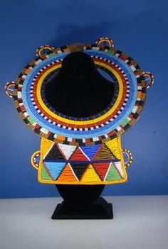 Beaded Maasai wedding necklace without by MaasaiVillageMarket
