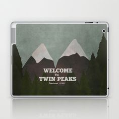 Welcome to Twin Peaks Laptop & iPad Skin by Justin Cybulski - $25.00