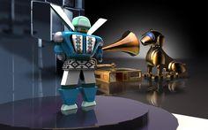 robot renderizado