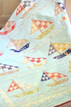 Might be interesting to make a small quilt with lots of different boat blocks