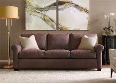 Riley reminds us of that sofa at home that you couldn't wait to jump and relax on.   #deepcomfort #americanleather #downseats