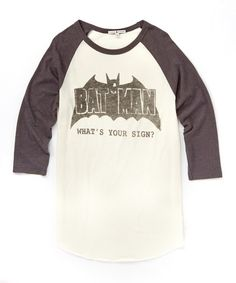 Another great find on #zulily! 'Batman What's Your Sign' Tee - Men's Regular #zulilyfinds