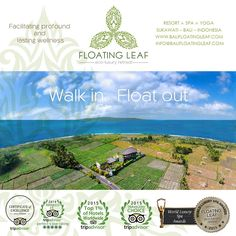 """Crafting artisanal experiences in Bali from a true oasis of wellness in paradise""  FLOATING LEAF ECO-LUXURY RETREAT Walk in. Float out.   http://balifloatingleaf.com  #RESORT 