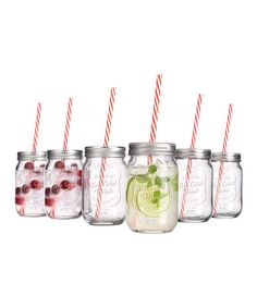 Love this Mason Jar Glassware - Set of Six by Home Essentials and Beyond on #zulily! #zulilyfinds
