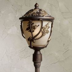 Triarch Acorn & Oak Leaf Outdoor Light Post Mount