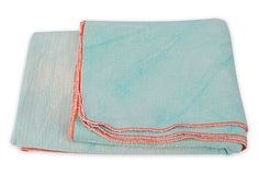 Going Under Cover - Hand-Dyed Cotton Blanket by Happy French Gang // via: One Kings Lane