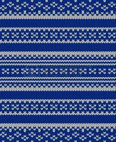 Knit texture. Fabric blue background with white ornament. Seamless vector pattern eps10