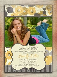 Items similar to High School Graduation Invitation, 2019 Graduation Invitation, Graduation Invitation, Graduation Announcement College, Graduation Invites on Etsy Senior Announcements, College Graduation Announcements, High School Graduation, Graduate School, Senior Graduation Invitations, Graduation Pictures, Graduation Ideas, Graduation Photography, Invitation Ideas