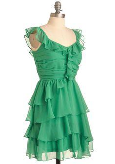 Green on the Scene Dress