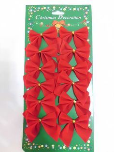 Christmas Tree Decoration Home Ornaments 12 Red Cloth Bowknots Size 5 Christmas Tree Decorations, Christmas Ornaments, Red, Clothes, Home Decor, Outfits, Xmas Tree Decorations, Clothing, Decoration Home