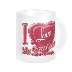 I Love My Grandson red - heart Coffee Mugs    •    AJ from PA, Thank you for your purchase!   •   This design is available on t-shirts, hats, mugs, buttons, key chains and much more   •   Please check out our others designs at: www.zazzle.com/ZuzusFunHouse*
