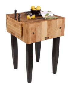 "John Boos ""PCA"" Block - 10"" Thick Butcher Block With Knife Holder at http://butcherblockco.com"