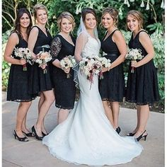 A @morileeofficial ensemble! From the bride wearing Style 2710 to her beautiful bridesmaids wearing their Affairs Style 31001. Fabulous. #MoriLee #bridalparty #bridalstyle #completepackage #bridal #bridalgown #wedding #weddinggown #weddingdress #wedding #