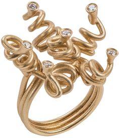 """Laura Bangert """"The Knot (Ringlet)"""" Diamond Ring"""