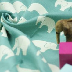 Birch - Bio Double Gauze - Ellie Fam - Pool Birch, Dinosaur Stuffed Animal, Fabrics, Animals, Design, Tejidos, Animales, Animaux, Animais