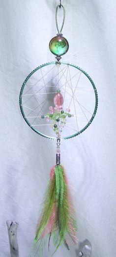 Tree of Life Wall Hanging Dreamcatcher Cherry Quartz Peridot Yellow Honey Jade…