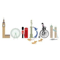 Praticamente uma descrição de Londres com os tipos de maneira criativa e brincalhona!