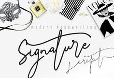 We are all the same – Signature Script Modern Handwriting –  Creative Market