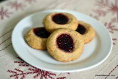 Pecan Butter Thumbprint Cookies - Chew Nibble Nosh