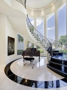 Luxury House Interior Design Tips And Inspiration Dream Home Design, Modern House Design, Home Interior Design, Interior Architecture, Modern Mansion Interior, Interior Shop, Staircase Architecture, Architecture Layout, Luxury Homes Interior