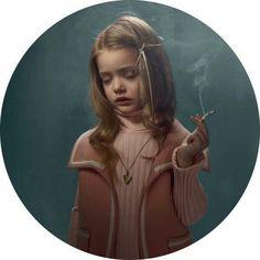 Adult /little girl smoking. #children #smoking