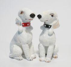 DOGS HANDMADE BEDLINGTON TERRIER SALT & PEPPER SHAKERS