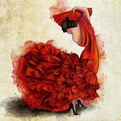 Flamenco del Fuego I Lámina