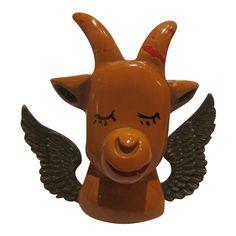 Bakelite Navy Mascot Goat Pin by Martha Sleeper
