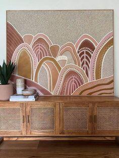 Indigenous Australian Art, Indigenous Art, Contemporary Art Paintings, Art Deco Paintings, Wall Art Decor, Wall Art Prints, Illustration Art, Illustrations, Guache