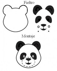 Patron fieltro oso panda