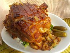 Pečené koleno s vůní a chutí cibule a česneku Pork Roast, Food 52, Pork Recipes, Ham, Food And Drink, Beef, Treats, Cooking, Czech Food