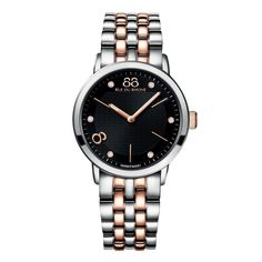 88 RUE DU RHONE Double 8 Origin 35mm Black Diamond Set Dial Ladies Watch From Berry's Jewellers