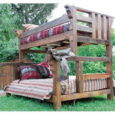 River Woods Twin over Full Bunk Bed | Western furniture decor