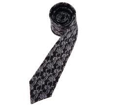 black floral pattern tie