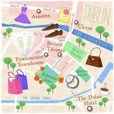 Dublin shopping map by Graham Corcoran
