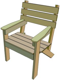 wooden simple garden chair