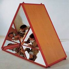 triangle mirror tents in Reggio Emilia schools - Google Search
