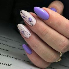 Nail Designs and Ideas 2019 Any lady who cares about how she looks thinks what manicure will best fit the chosen outfit and what types of nails are in the trend at a time. Nail Art Design Gallery, Best Nail Art Designs, Nail Design, Spring Nail Art, Spring Nails, Trendy Nails, Cute Nails, Ongles Gel Violet, Lily Nails